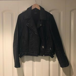 Topshop - Vegan Leather Moto Jacket
